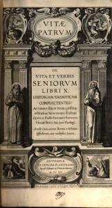 """Frontispice de l'édition des """"Vitae Patrum"""" de 1615"""